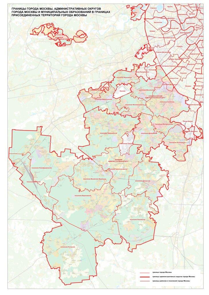 границы округов