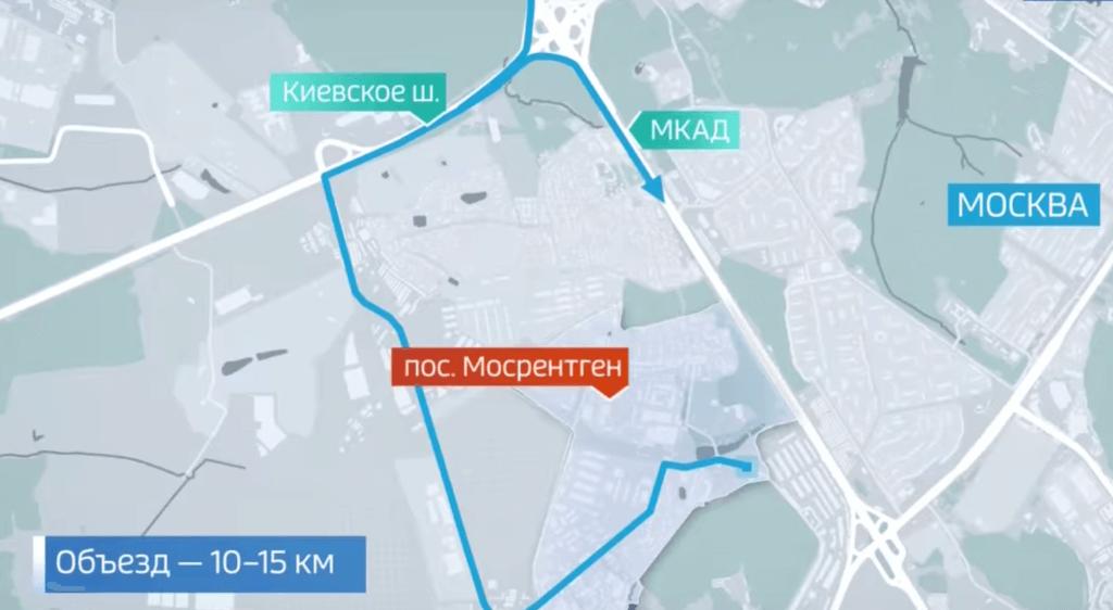 Объезд платной дороги Мосрентген