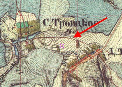 1852 год. Дорога ведет в сторону Калужского шоссе