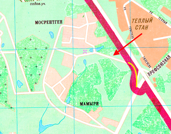 Карта 1989 года
