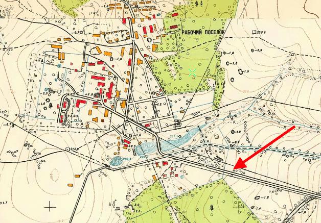 1956 год. Дорога только в сторону Калужского шоссе